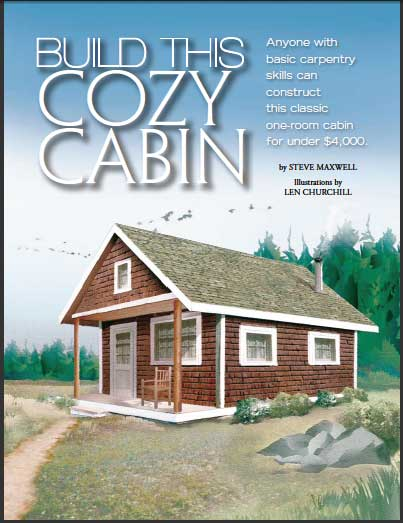 Build Cabin Plans With Loft Diy Pdf Wood Podium Plans Do: DIY Cabin Building Plans From Steve Maxwell