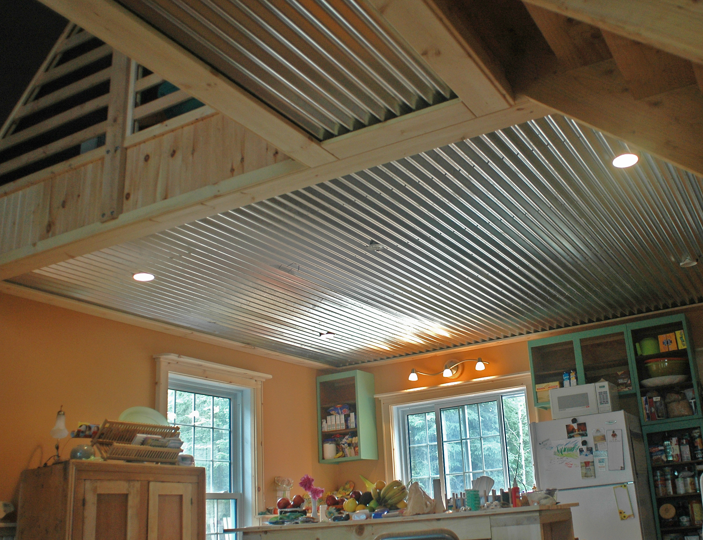 corrugated cottage ceiling. Black Bedroom Furniture Sets. Home Design Ideas